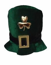 ST Patricks Day Irish Hat Green Leprechaun Fancy Dress Top Hat Shamrock Ireland