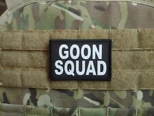 GOON SQUAD Black White 2x3 Tactical Hook Military Patch