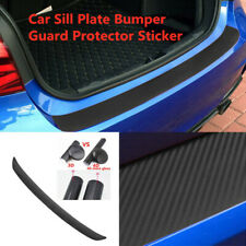 Car Accessories Rear Bumper Trunk Tail Lip Protect Black Carbon Fiber Stickers