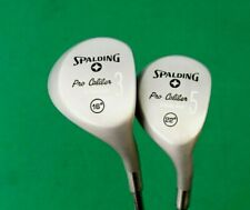 Refurbished Vintage Set of 2 x Spalding Pro Caliber Woods 3 & 5 Regular Steel