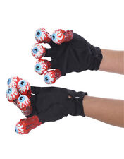 Beetlejuice Costume Accessory, Mens Beetlejuice Eyeball Gloves