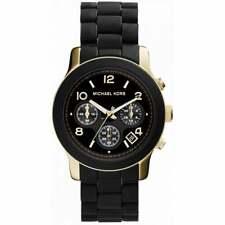 NEW   Michael Kors Ladies Runway Black Rubber Strap Watch MK5191   RRP £269