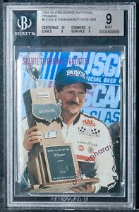 1994 score board National promos Dale Earnhardt senior bgs 9