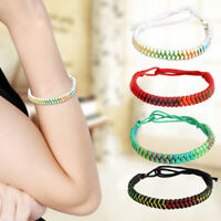 Original Multi Color Tibetan Buddhist Handmade Knots Lucky Rope Bracelet Hot