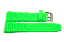 NEON GREEN 26MM RUBBER COMPOSITE SPORT LINK WATCH BAND STRAP FITS INVICTA