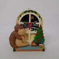 First Christmas Together 1995 Keepsake Ornament Window Bears Cute Hallmark