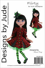 "Flirty Doll Clothes Sewing Pattern for 15.25"" Maudlyne Macabre Dolls Tonner"