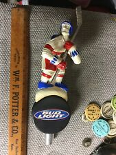 Older Super Rare Bud Light Hockey Player Beer Tap Handle