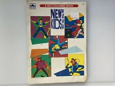 Used Vintage 1990 New Kids on the Block Big Coloring Book 3 Pages Colored.