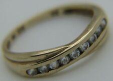 Anelli di lusso trasparente in oro giallo di fidanzamento