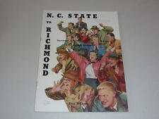 1954 RICHMOND AT NC STATE COLLEGE FOOTBALL PROGRAM EX