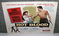 HOT BLOOD original 1956 movie poster JANE RUSSELL/CORNEL WILDE