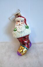 Christopher Radko Ornament Stocking Claus #1011180 Santa New With Tag (R36)