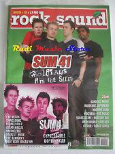 rivista ROCK SOUND 44/2001 +CD Sum 41 +POSTER Incubus American HI-FI Green Day