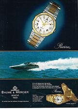 PUBLICITE ADVERTISING 034   1980   BAUME & MERCIER   collection montre  RIVIERA
