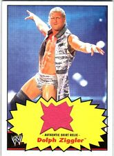 WWE Dolph Ziggler 2012 Topps Heritage Authentic Event Worn Shirt Relic Card FD