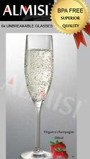 24 x UNBREAKABLE DRINKWARE CHAMPAGNE (ELEGANCE) 200ML BPA FREE Clearance Sale