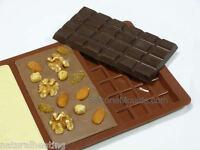 3 Bar Large Chocolate Mould (95g) Professional Silicone Rectangular Bar Mold Tin