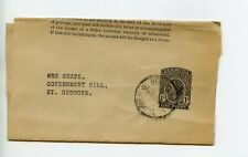 Bermuda postal stationery newspaper wrapper E11 used c1956 (V722)