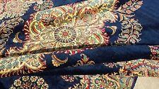"Antique Persian Oriental Rug Carpet Kerman Lavar Ravar Navy Blue 105"" x146"" Mint"