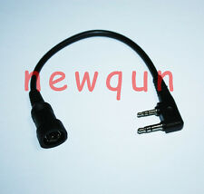 BRAND NEW MINI DIN Plug 6pin Throat Vibration MIC for KENWOOD HYT PUXING