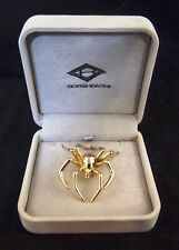 "14K Gold 2-1/8"" * * Borsheims Spider Pin Brooch"