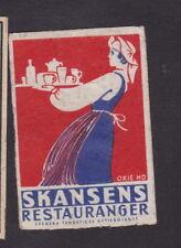 Ancienne étiquette allumettes Suède Germania Femme