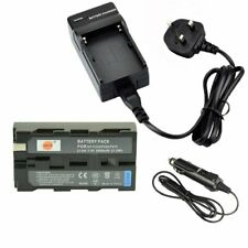 DSTE® Rechargeable Li-ion Battery + Charger DC01U for Sony NP-F550, NP-F330, NP