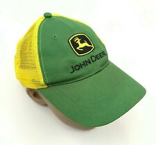 John Deere Trucker Hat Cap Youth Snapback Green Yellow One Size Adjustable Boy
