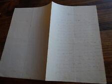 1868.Lettre  autographe.Provence Maillane.Frederic Mistral