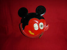 Vintage Red Mickey Mouse Head Puffy Change Coin Purse Wallet Bag Pouch Squeaks