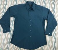 Arrow Men's Button Down Shirt Wrinkles Free Long Sleeve Classic Fit Size L Large