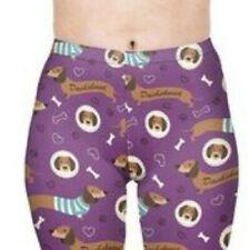 women's leggings size 6 10 12Fun quirky Purple Dachshunds size UK