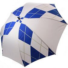 """60"""" simple dais parapluie de golf blanc + diamant bleu 1 bouton open semi auto neuf"""