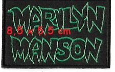 Marilyn Manson - name patch - Free Shipping