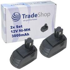 2x Trade-shop Batterie 12 V 3000 mAh Ni-MH remplace hilti sbp10 sfb121 sfb126 sfb126a
