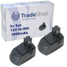 2x Trade-Shop AKKU 12V 3000mAh Ni-MH ersetzt Hilti SBP10 SFB121 SFB126 SFB126A