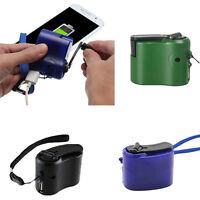 USB Handkurbel Generator Handy Notfall Dynamo Ladegerät Reise Überleben Getriebe