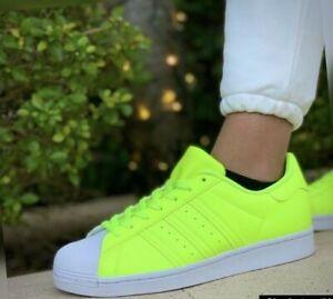 Adidas Originals Superstar men's sneakers shoes  yellow-neon/white FY2744