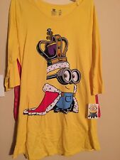 Juniors Despicable Me Cape Nightshirt Size XL 15-17 NWT