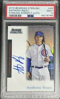 2019 Bowman Sterling Anthony Rizzo #AR Sterling RTRSPCT Auto #21/45 PSA 9 MINT