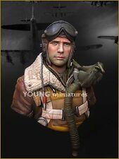 Young Miniatures B-17 Waist Gunner Eto 1944 USAF YM1815 buste non peinte Kit