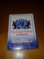 NEWSMAX 2003 The United Nations of Weasels Playing Cards New Factory Sealed