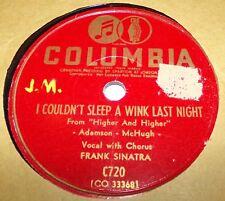 Columbia C720 Frank Sinatra I Couldn't Sleep A Wink Last Night 78 RPM E- E-
