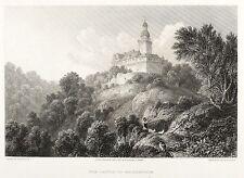 FALKENSTEIN (HARZ) - BURG FALKENSTEIN - Batty - Stahlstich 1827