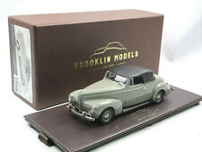 Brooklin models BML 31 1940 Nash Ambassador Eight Convertible Top Up Gray 1:43