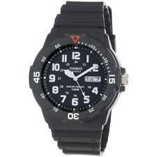 Casio Analogue Mens Wrist Watch Black Resin Band Strap Casual MRW200H/1B