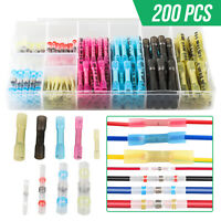 200PCS Heat Shrink Wire Terminals Connectors Waterproof Seal Solder Sleeve Set