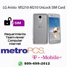 Unlock SIM CARD LG MS210 /M210 T-MOBILE / METRO PCS