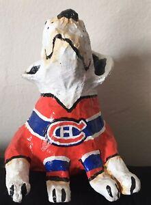 Papier Mache Hockey Canadiens Dog Handmade